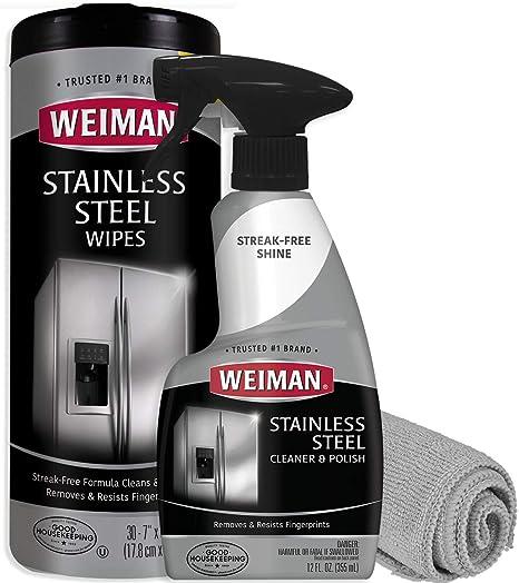Weiman - Kit de limpieza de acero inoxidable - elimina ...