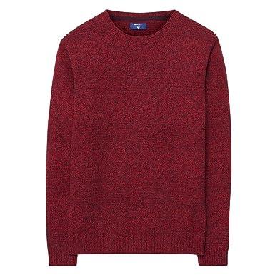 Herren Pullover rot von Gant, Wolle
