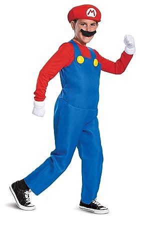 Nintendo Super Mario Bros- Deluxe Disfraz, Color Rosso, Medium ...