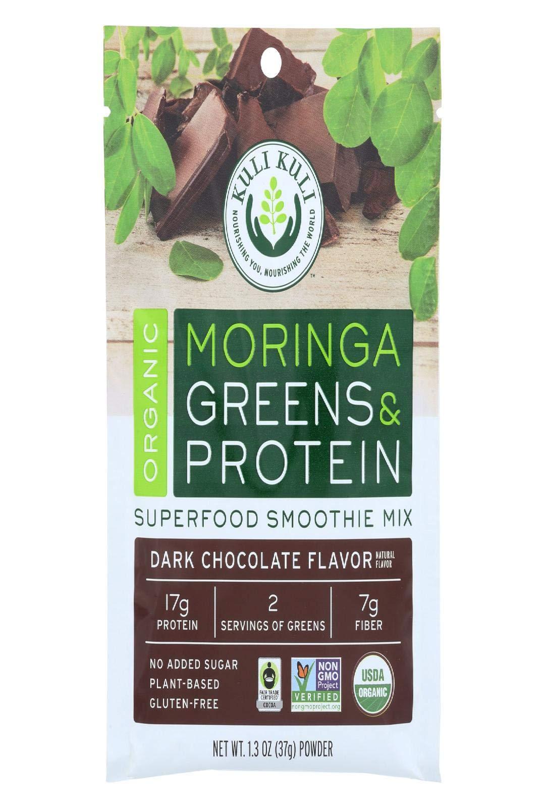Kuli Kuli Mo Moringa Greens & Parton Dark Chocolate, 1.30 oz