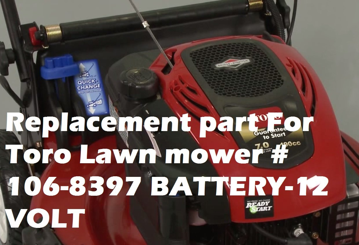 BB Battery Replacement part For Toro Lawn mower # 106-8397 BATTERY-12 VOLT