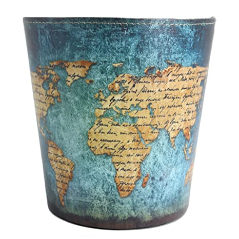 7c9d8f2432 Lingxuinfo European British Style Trash Can Waste Paper Bin Wastebasket  Garbage Can Uncovered Waste Bin for