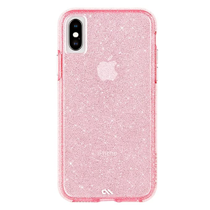 official photos 67d5e cbe2e Case-Mate - iPhone X Case - Sheer Crystal - Twinkling Glass Crystal -  Fashion Cell Phone Case - iPhone 10 - Crystal Pink