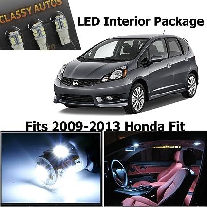 Amazoncom Classy Autos Honda Fit Jazz White Interior Led Package