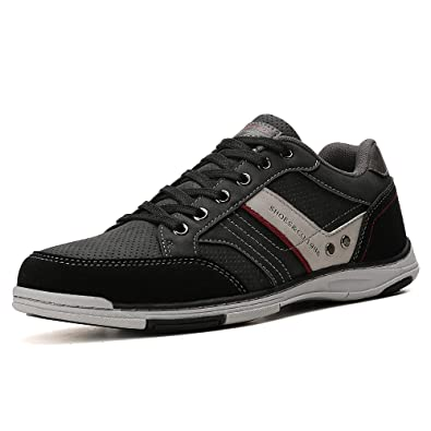 cae17fb0c5d14 AX BOXING Mens Casual Shoes Lace-up Shoes Loafer Flats Classic Non-Slip  Walking Gym Shoe Trainers Sport Men's Sneakers Size 7-11