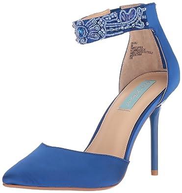 c0378c48b70 Blue by Betsey Johnson Women s Kali Blue Satin 5.5 ...