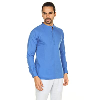9728f4317b48 A.N.D. by Anita Dongre Mens Pullover Tunic with Mandarin Collar