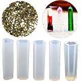 Sparklelife 5 Shapes DIY Liquid Resin with 100 PCS Screw Eye Pins Molds for Making Jewelry Necklace Pendant