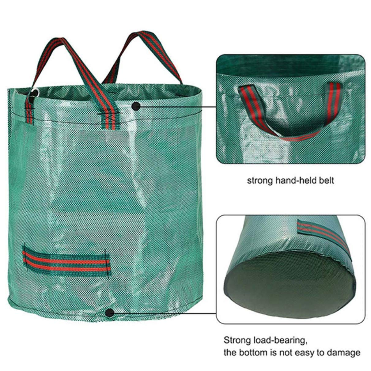 None 5 Picture Color Venus FitzGerald Sturdy Heavy Duty Garden Waste Bag Reusable Waterproof Refuse Sack for Leaves Grass Bin
