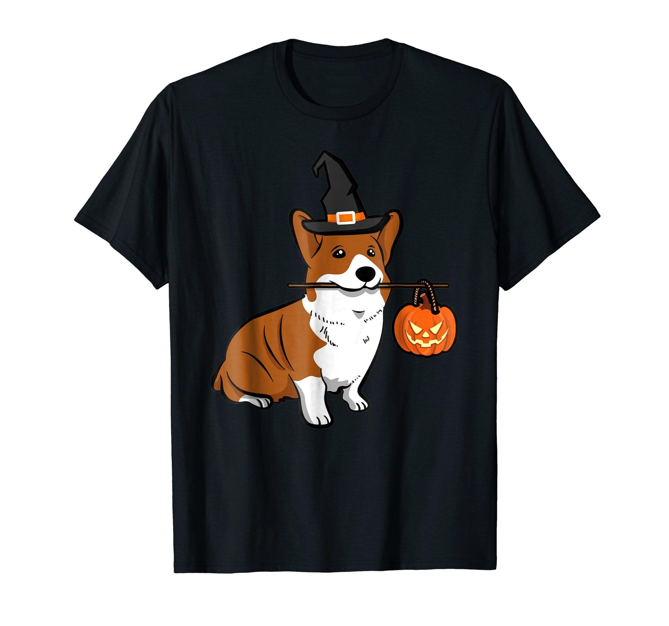 Cute Pet Shiba Dog Animal Pumpkin Halloween Grave T Shirt by Pink Rain Halloween Gift (Image #1)
