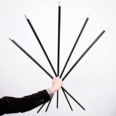 5x Black Plastic Appearing Canes with Video Tutorial - Stage Magic Trick: Toys & Games