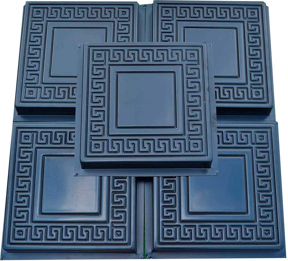 Set 5pcs Plastic MOLDS Casting Concrete Paving Garden Path Pavement Stone Patio #S01