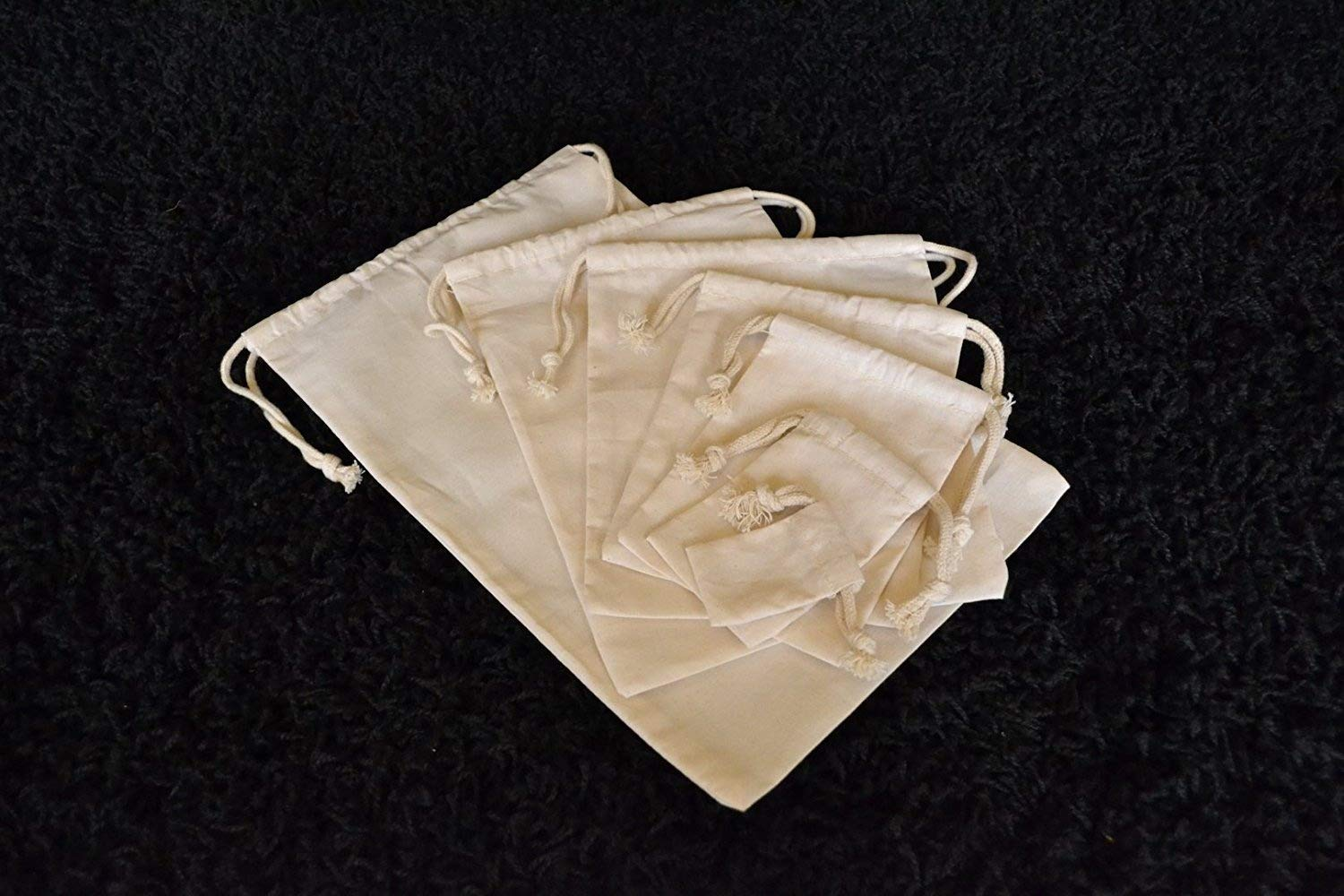 6c6fea45b92 Amazon.com: 6x8 Cotton Double Drawstring Muslin Bags, 100% Organic Cotton  Muslin Drawstring and Premium Quality Bags, Eco-friendly (Natural Color)  (10): ...
