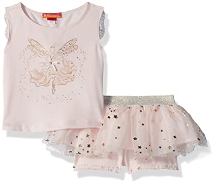 43ac6f1f12a5c Amazon.com: Kate Mack Girls' Toddler Fairy Dance 2pc Top and Tutu Skort:  Clothing