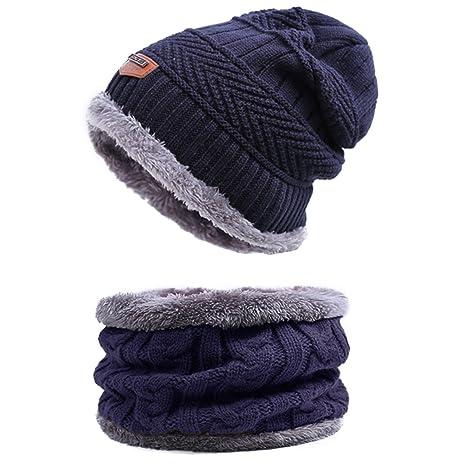 Back Packers unisex berretto invernale caldo cappello sciarpa set sciarpa  spessa maglia cappello caldo pile foderato 56d853c31632