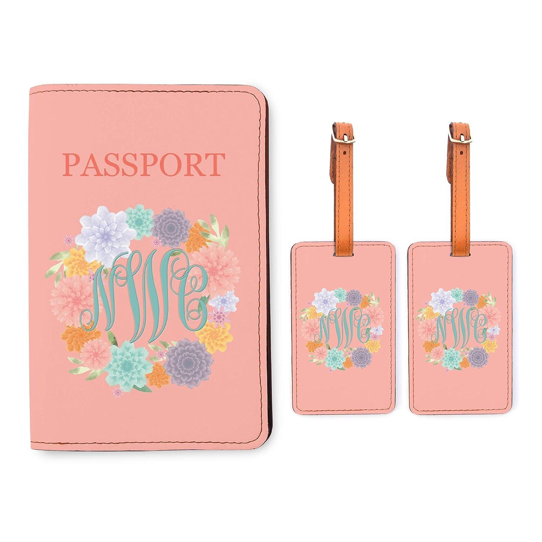 Personalized RFID Passport Holder 2 Luggage Tag Matching Set Upload Your Image