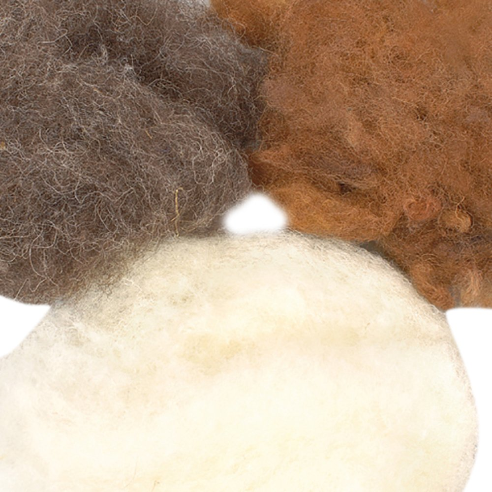 Efco 50 g Wool for Felting in Natural Assorted 1008092