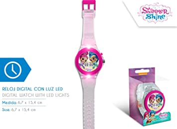Disney - Reloj Digital Shimmer and Shine con luz led - SH17024: Amazon.es: Juguetes y juegos