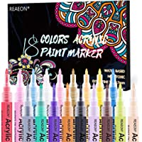 Paint pens, Acrylic Paint Markers for Rocks, Craft, Ceramic, Glass, Wood, Fabric, Canvas - Art Crafting Supplies Set of 18 Colors