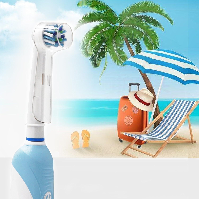 Porta cepillo de dientes Incluye 4pieza fundas para cabez eléctricos Oral-B,soporte para cabezales para cabezales eléctricos Oral-B 1 herramienta para pasta ...