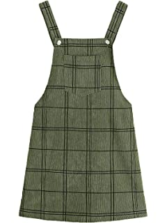 22f19ffc16e Floerns Women s Cute Strap Button up Corduroy Overall Sheath Pinafore Dress