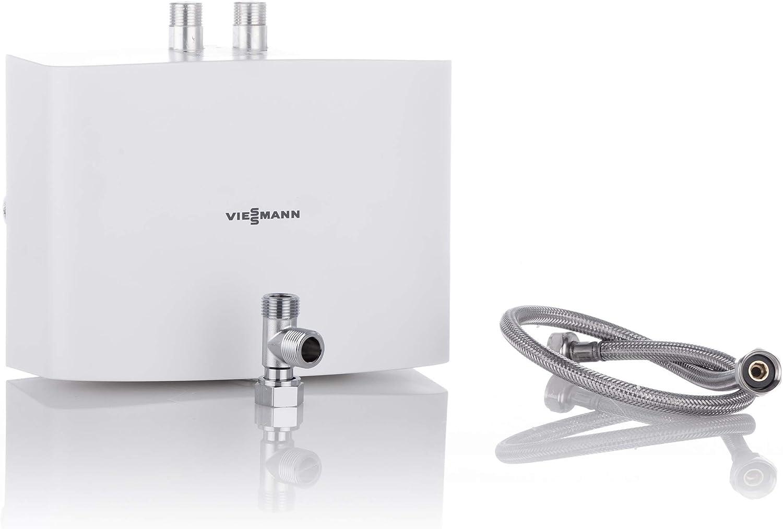 Viessmann Mini-Durchlauferhitzer hydraulisch gesteuert Vitotherm EI5.A3 Warmwasserkomfort im Miniformat 3,5 kW drucklos Farbe wei/ß ZK03813 Energieeffiziensklasse A