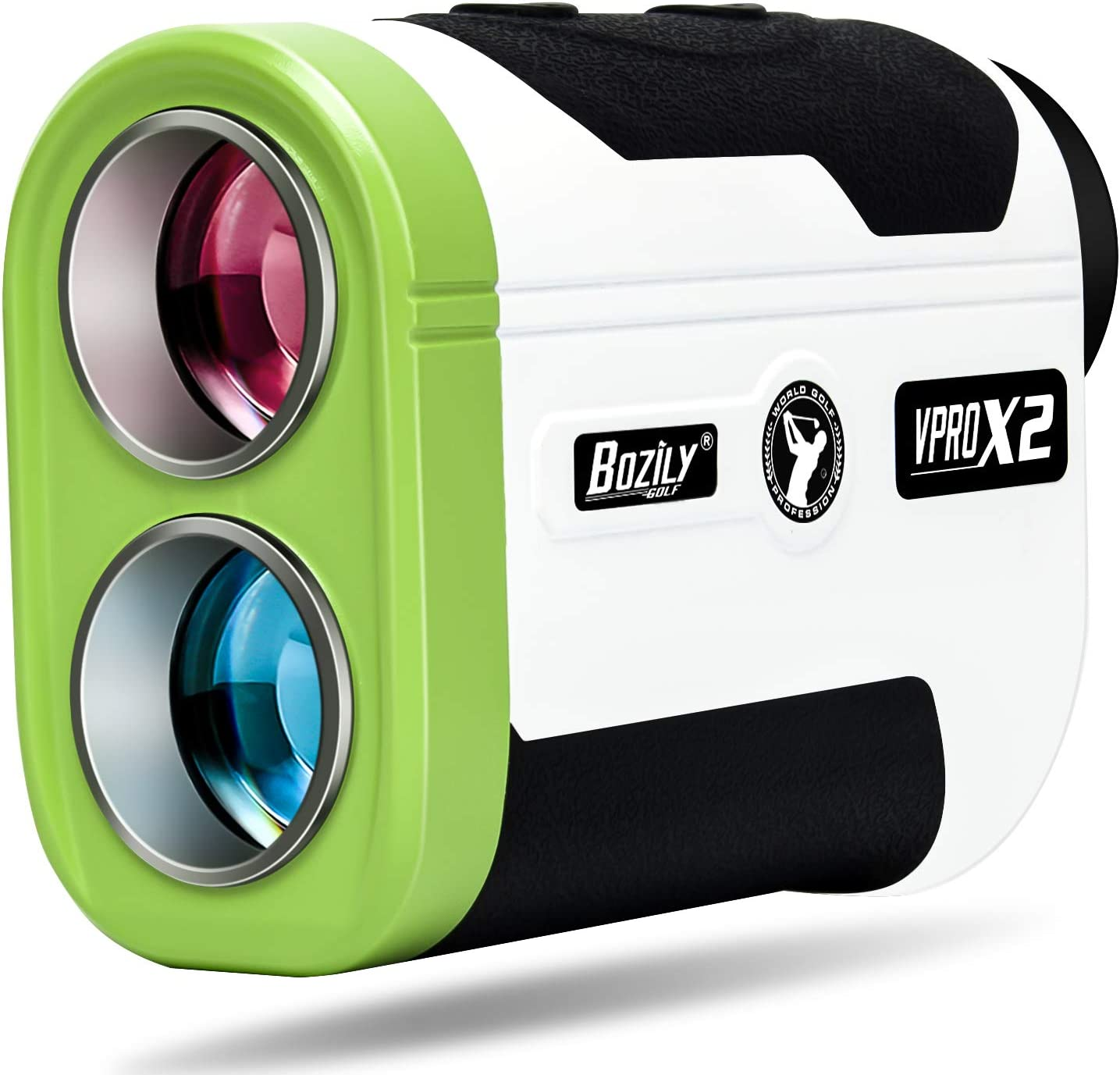 Bozily Golf Rangefinder 6X Laser Range Finder 1500 Yards with Slope ON/Off,2 Scan Modes Flag-Lock Tech with Vibration,Continuous Scan Support-with Battery