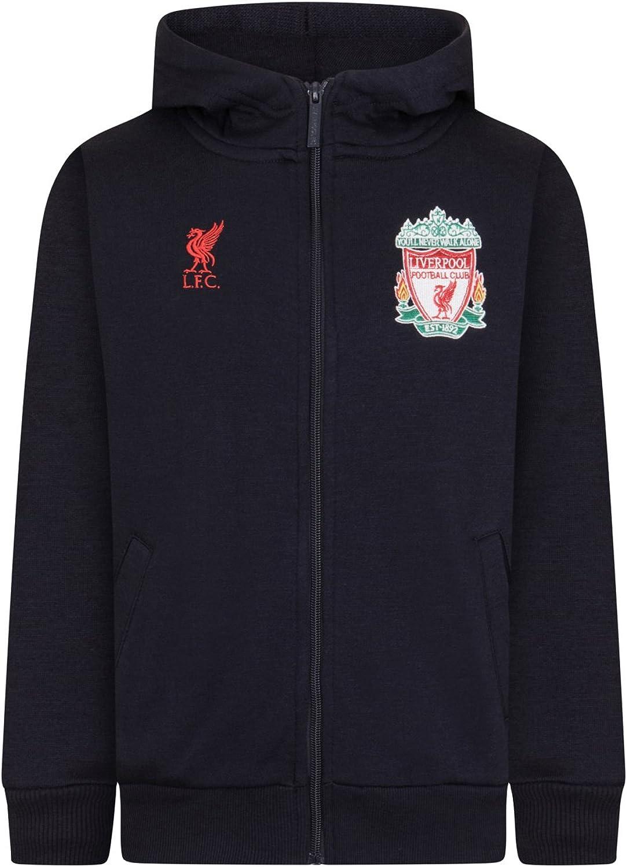 Liverpool FC Official Football Gift Boys Fleece Zip Hoody