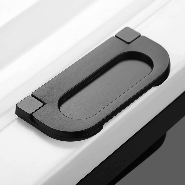 1Pc Black Single Hole Ring Circle Zinc Alloy Kitchen Cabinet Door Handles Cupboard Knobs Wardrobe Pull Furniture Hardware-1#