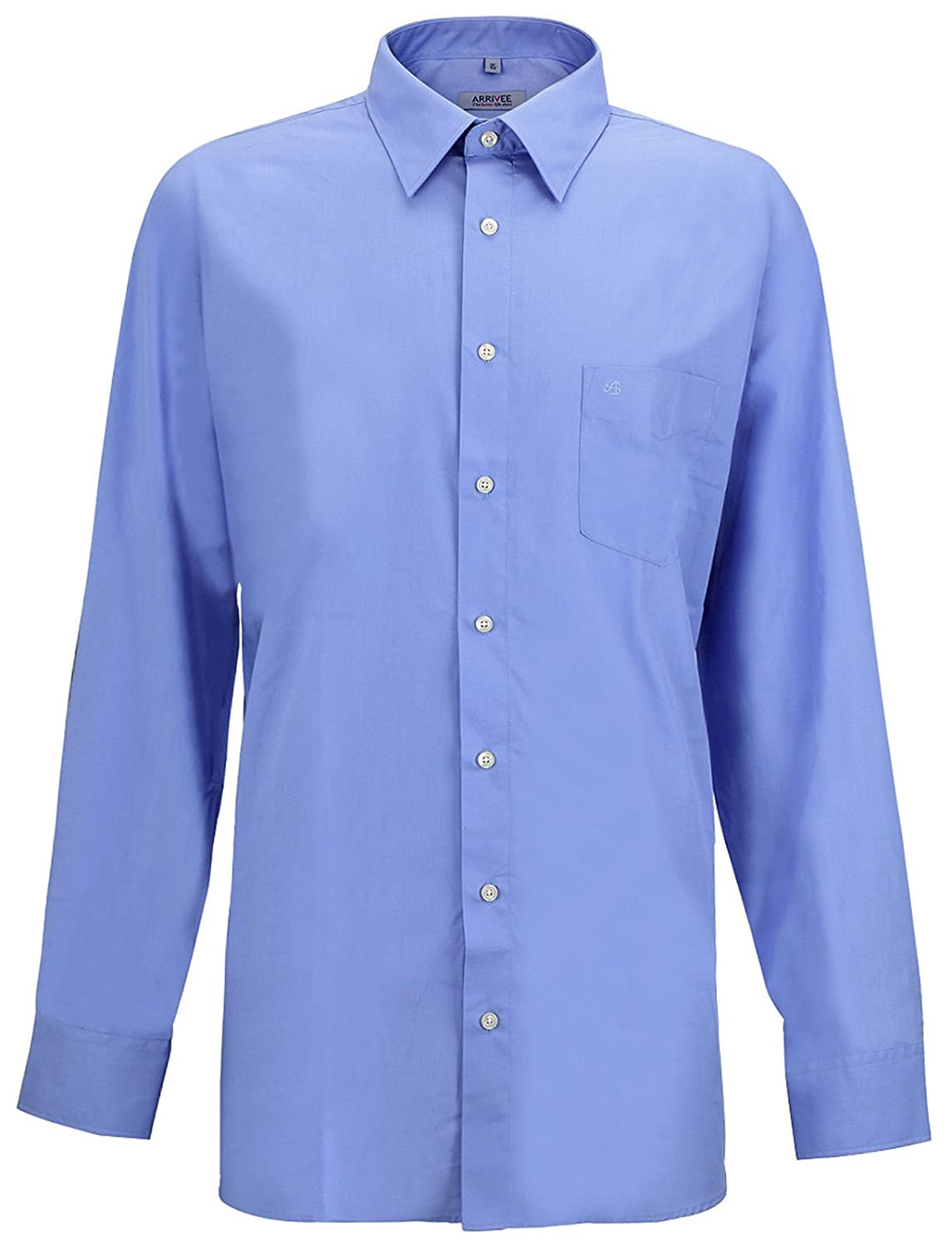 Arrivee Men's Plain Classic Formal Shirt