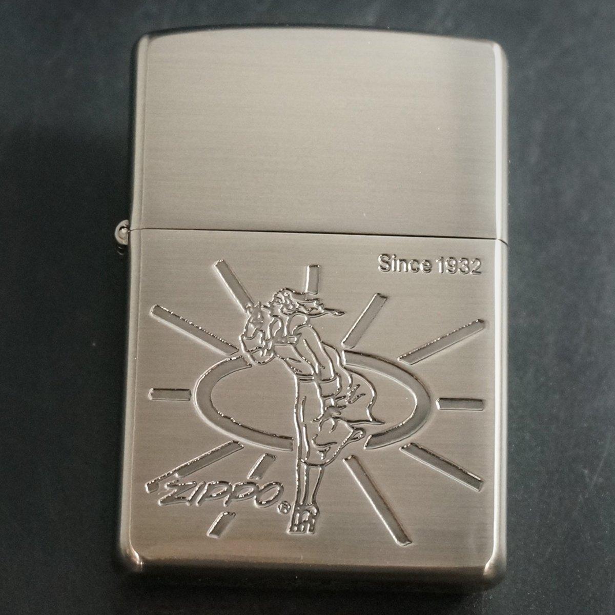 zippo WINDY エッチング シルバーいぶし B 2000年製造 B06XDYY9D6