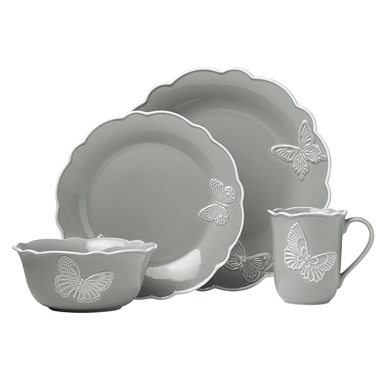 Lenox Butterfly Meadow Carved Blue 4 Piece Place Setting 871655