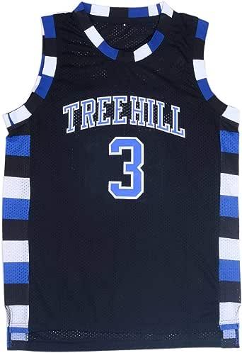 Mens Basketball Jersey Lucas Scott #3 Ravens Stitched Sports Movie Jersey Black