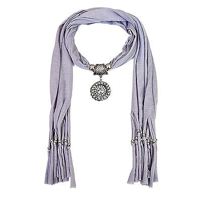 Buy scarf necklace grey dupatta stole muffler wrap scarf necklace scarf necklace grey dupatta stole muffler wrap scarf necklace scarf pendant scarf scarves for girls women aloadofball Gallery