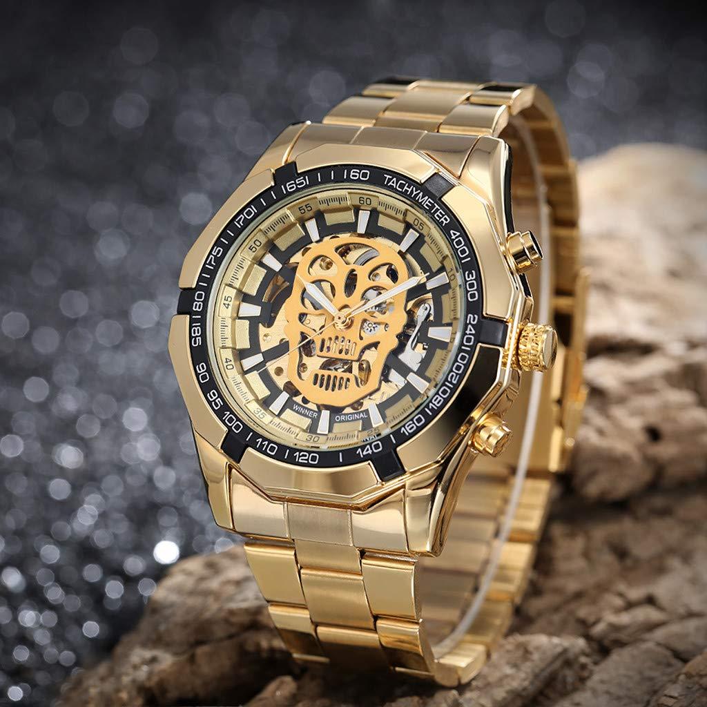 LUXISDE Quartz Watch Mens Digital Wrist Watch Clock Hollow Dial Luxury Design Business Fashion Mens Mechanical Watch by LUXISDE (Image #7)