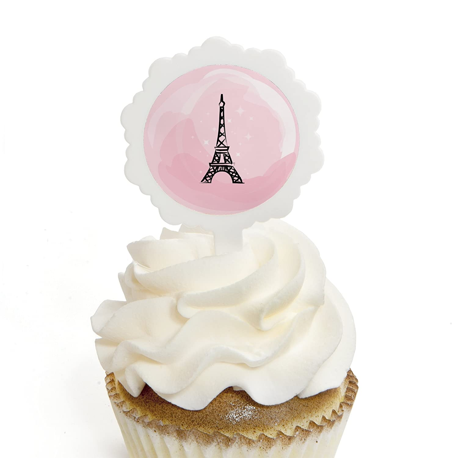 Amazon.com: Paris, Ooh La La - Cupcake Picks with Stickers - Paris ...