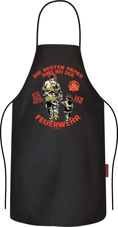 Papas bei der Feuerwehr RAHMENLOS Grillsch/ürze f/ür M/änner