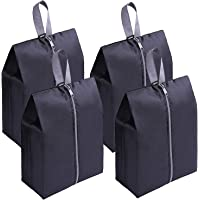 Premium Quality Travel Shoe Bags (4 pack) - Black, Packing cubes with hook