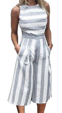 Chilsuessy Elegant Damen Hosenanzug Jumpsuit Freizeit Einteiler Hose Overall  Playsuit Spielanzug  Amazon.de  Bekleidung 8c6949a093