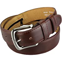 2Store24 Cinturón con bolsillo secreto interno con cremallera en Marron oscuro y Negro| Longitud total : 110-175cm = Tamaño de la cintura 95-160cm
