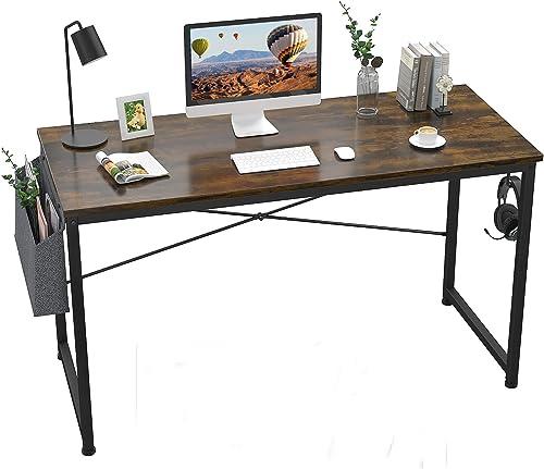 FLing Computer Desk 47″ Study Writing Table