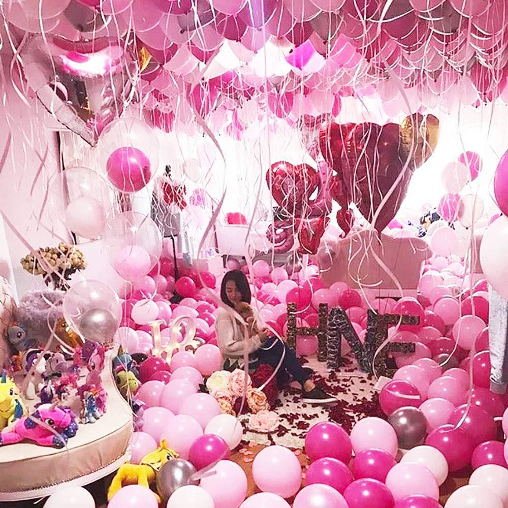 Gxhong Palloncini Oro Rosa Champagne Oro Palloncini in Lattice 50 Pezzi Palloncini coriandoli //Palloncini Elio //Matrimonio Palloncini //12 Pollici Palloncini Colorati per Decorazioni Oro Rosa