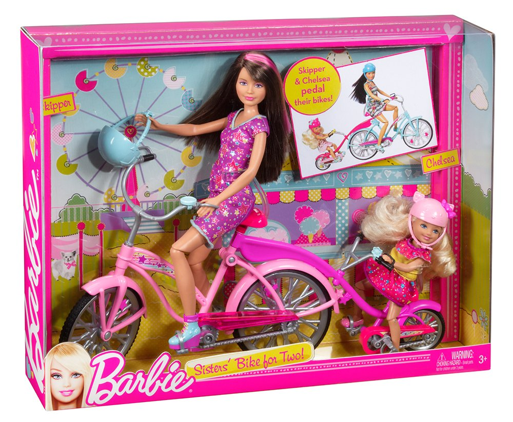 Barbie Sisters Bike For Two Playset Toys Games
