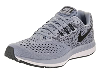 Nike Women's Air Zoom Winflo 4 Running Shoe Glacier Grey/ Black- Anthracite-White 9.5