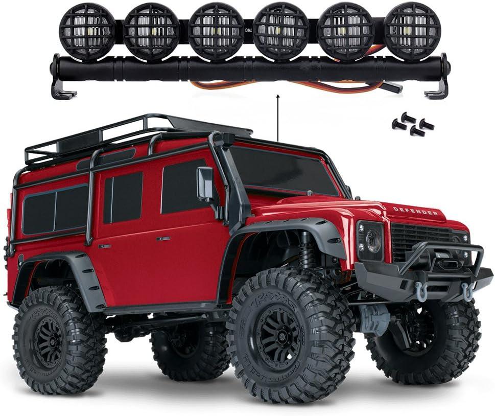 INJORA RC LED Light Bar RC Accesorios 6 Leds RC Light Bar RC Coche Barra de Luz LED para 1/10 RC Crawler Traxxas TRX-4 TRX4 D90 Axial SCX10 90046 Jeep ...