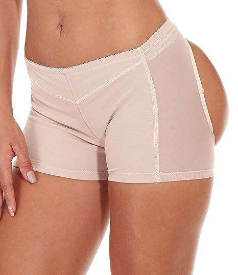 fc76b26cd3e Women s Butt Lifter Panties Shapewear Boy Shorts Enhancer Shaper Panty Beige  S