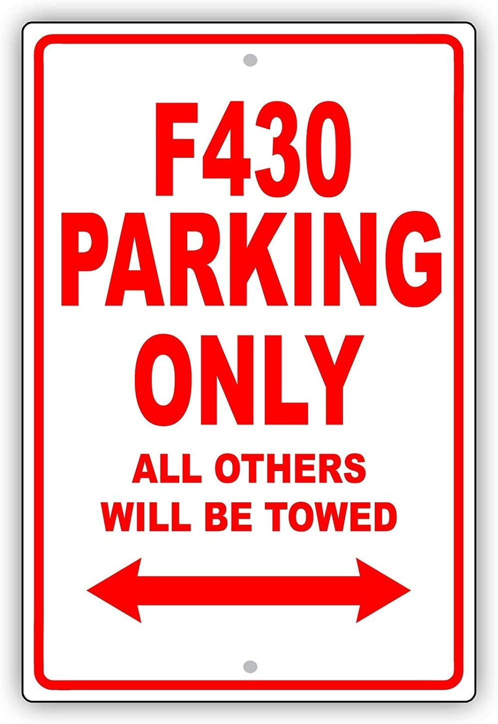 6x9 inches Multi Fhdang Decor Ferrari F430 Parking Only All Other Will Be Towed Ridiculous Funny Garage Metallschild Aluminium Schild Metall