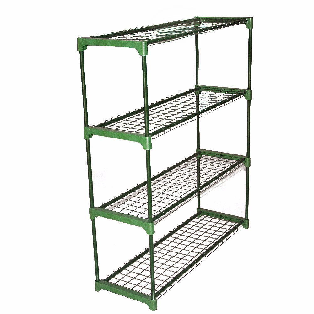Britoniture 2 x Greenhouse Staging 4 Tier Flower Display Greenhouse Racking Shelving Unit BOCHEN