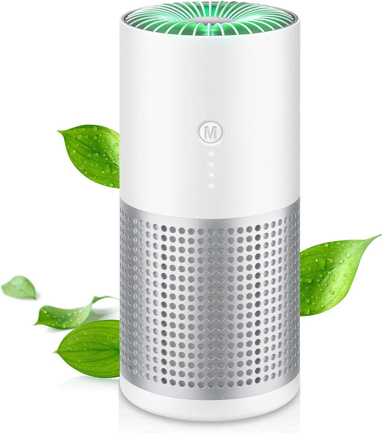 MZTDYTL Air Purifiers for Home Car Allergies Pets Hair Smoke Dust Airborne Contaminants Odors-Desktop Air Cleaner with True HEPA Filter with HEPASilent Technology for Bedroom Office Car
