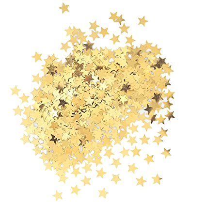 amazon com metallic star confetti gold kitchen dining